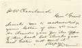 """Autographs:U.S. Presidents, Frederick Dent Grant Autograph Letter Signed """"F D Grant"""".One page, 5.25"""" x 3"""", undated, in ink, to H. W. Cleveland. Lik..."""