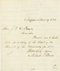 "Autographs:U.S. Presidents, 1871 Millard Fillmore Autograph Letter Signed ""MillardFillmore"". One page, 6.5"" x 7.75"", Buffalo, New York, April 19,1..."