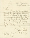 """Autographs:Statesmen, Gideon Welles Letter Signed As Secretary of the Navy """"GideonWelles"""". One page, 7.75"""" x 9.75"""", on Navy Department letter...(Total: 1 Item)"""
