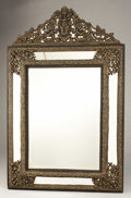 Furniture : Continental, A Flemish Baroque Revival Mirror. Unknown maker, Flemish. Circa1850. Ebonized wood, gilt metal, mirrored glass. Marks: no...