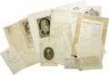 """Autographs:Celebrities, Nine Items Pertaining to British Nobility, as follows:. PrincessAugusta LS, one page (in German), 8"""" x 12.5"""", Leicester... (Total:9 Items)"""