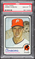 Baseball Cards:Singles (1970-Now), 1973 Topps Jim Lonborg #3 PSA Gem Mint 10....
