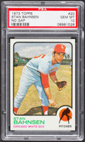 Baseball Cards:Singles (1970-Now), 1973 Topps Stan Bahnsen, No Gap #20 PSA Gem Mint 10 - Pop Three....