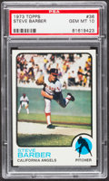 Baseball Cards:Singles (1970-Now), 1973 Topps Steve Barber #36 PSA Gem Mint 10....