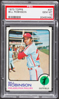 Baseball Cards:Singles (1970-Now), 1973 Topps Bill Robinson #37 PSA Gem Mint 10 - Pop Three....