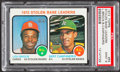 Baseball Cards:Singles (1970-Now), 1973 Topps Stolen Base Leaders Brock/Campaneris #64 PSA Mint 9....