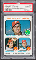 Baseball Cards:Singles (1970-Now), 1973 Topps Victory Leaders Carlton/Perry/Wood #66 PSA Gem Mint 10....