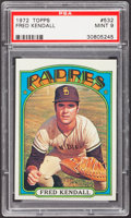 Baseball Cards:Singles (1970-Now), 1972 Topps Fred Kendall #532 PSA Mint 9....