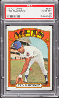 Baseball Cards:Singles (1970-Now), 1972 Topps Ted Martinez #544 PSA Gem Mint 10 - Pop Three....