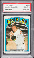 Baseball Cards:Singles (1970-Now), 1972 Topps Brooks Robinson #550 PSA Mint 9....