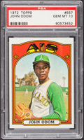 Baseball Cards:Singles (1970-Now), 1972 Topps John Odom #557 PSA Gem Mint 10....