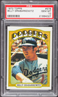Baseball Cards:Singles (1970-Now), 1972 Topps Billy Grabarkewitz #578 PSA Gem Mint 10....