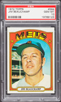 Baseball Cards:Singles (1970-Now), 1972 Topps Jim Beauchamp #594 PSA Gem Mint 10....