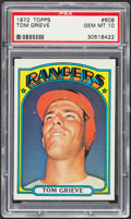 Baseball Cards:Singles (1970-Now), 1972 Topps Tom Grieve #609 PSA Gem Mint 10 - Pop Three....