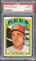 Baseball Cards:Singles (1970-Now), 1972 Topps Ted Uhlaender #614 PSA Gem Mint 10 - Pop. Three. ...