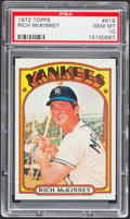 Baseball Cards:Singles (1970-Now), 1972 Topps Rich McKinney #619 PSA Gem Mint 10 - Pop Two....