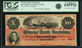 Obsoletes By State:Louisiana, New Orleans, LA - Citizens' Bank of Louisiana $10 186_ LA-15 G26a. Remainder. PCGS Very Choice New 64 PPQ.. ...