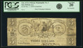 Obsoletes By State:Louisiana, New Orleans, LA - Municipality No. Two $3/Trois Piastres Dec. 1, 1839 Contemporary Counterfeit. PCGS Very Fine 20.. ...