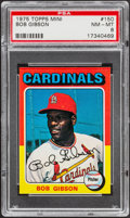 Baseball Cards:Singles (1970-Now), 1975 Topps Mini Bob Gibson #150 PSA NM-MT 8....