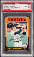 Baseball Cards:Singles (1970-Now), 1975 Topps Mini Dave Kingman #156 PSA Gem Mint 10 - Pop One....