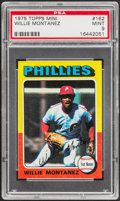 Baseball Cards:Singles (1970-Now), 1975 Topps Mini Willie Montanez #162 PSA Mint 9....
