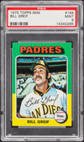 Baseball Cards:Singles (1970-Now), 1975 Topps Mini Bill Greif #168 PSA Mint 9....