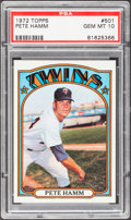 Baseball Cards:Singles (1970-Now), 1972 Topps Pete Hamm #501 PSA Gem Mint 10 - Pop Three....