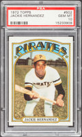 Baseball Cards:Singles (1970-Now), 1972 Topps Jackie Hernandez #502 PSA Gem Mint 10 - Pop Four. ...
