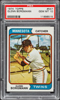 Baseball Cards:Singles (1970-Now), 1974 Topps Glenn Borgmann #547 PSA Gem Mint 10....