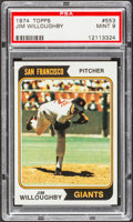 Baseball Cards:Singles (1970-Now), 1974 Topps Jim Willoughby #553 PSA Mint 9....