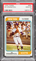 Baseball Cards:Singles (1970-Now), 1974 Topps Ed Kranepool #561 PSA Gem Mint 10....