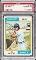 Baseball Cards:Singles (1970-Now), 1974 Topps Hal McRae #563 PSA Gem Mint 10....