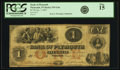 Obsoletes By State:Indiana, Plymouth, IN - Bank of Plymouth $1 January 1, 1857 IN-535 G4a, WVS 671-1. PCGS Fine 15.. ...