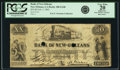 Obsoletes By State:Louisiana, New Orleans, LA - Bank of New Orleans $20 Feb. 5, 1862 LA-100 G24b. PCGS Very Fine 20 Apparent.. ...