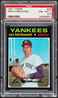 Baseball Cards:Singles (1970-Now), 1971 Topps Ron Klimkowski #28 PSA NM-MT+ 8.5....