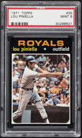 Baseball Cards:Singles (1970-Now), 1971 Topps Lou Piniella #35 PSA Mint 9....