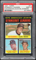 Baseball Cards:Singles (1970-Now), 1971 Topps AL Strikeout Leaders #71 PSA Mint 9....
