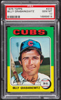 Baseball Cards:Singles (1970-Now), 1975 Topps Billy Grabarkewitz #233 PSA Gem Mint 10 - Pop Three....