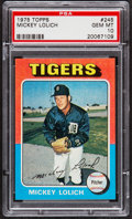 Baseball Cards:Singles (1970-Now), 1975 Topps Mickey Lolich #245 PSA Gem Mint 10 - Pop Two....