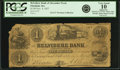 Obsoletes By State:Massachusetts, Pittsfield, MA - Belvidere Bank of Alexander Neely $1 Nov. 4, 1857Haxby-Not Listed, Whitman MA-2265-001-A001-UNL. PCGS Very G...