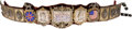 Boxing Collectibles:Memorabilia, 1888 Ornate Boxing Belt Presented to Charley Mitchell afterFighting John L. Sullivan to a Famous Draw....