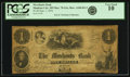 Obsoletes By State:Minnesota, Mankato City, MN - Merchants Bank $1 Sept. 1, 1854 MN-75 G2a,Hewitt A160-D1-2, Durand MNT-1. PCGS Very Good 10.. ...