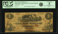 Obsoletes By State:Minnesota, Minneapolis, MN - State Bank of Minnesota $1 Sept. 1, 1862 MI-85G2, Hewitt B360-D1. PCGS Very Good 8 Apparent.. ...