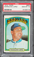 Baseball Cards:Singles (1970-Now), 1972 Topps Marcelino Lopez #652 PSA Gem Mint 10....