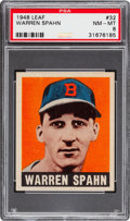 Baseball Cards:Singles (1940-1949), 1948 Leaf Warren Spahn #32 PSA NM-MT 8....