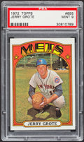 Baseball Cards:Singles (1970-Now), 1972 Topps Jerry Grote #655 PSA Mint 9....
