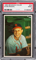 Baseball Cards:Singles (1950-1959), 1953 Bowman Color Stan Musial #32 PSA Mint 9....