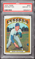 Baseball Cards:Singles (1970-Now), 1972 Topps Don Sutton #530 PSA Gem Mint 10....