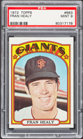 Baseball Cards:Singles (1970-Now), 1972 Topps Fran Healy #663 PSA Mint 9....