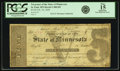 Obsoletes By State:Minnesota, St. Paul, MN - Treasurer of the State of Minnesota $5 Feb. 10, 1858Hewitt C400-D5. PCGS Fine 15 Apparent.. ...